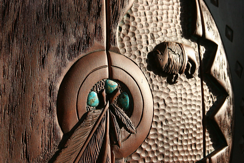 Detail of the entrance door to Casa Sedona
