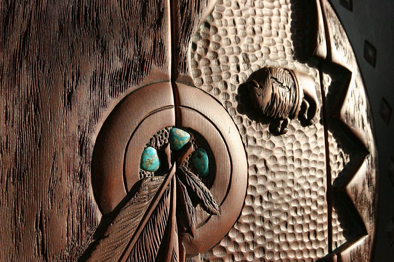 Detail of the entrance door to Casa Sedona