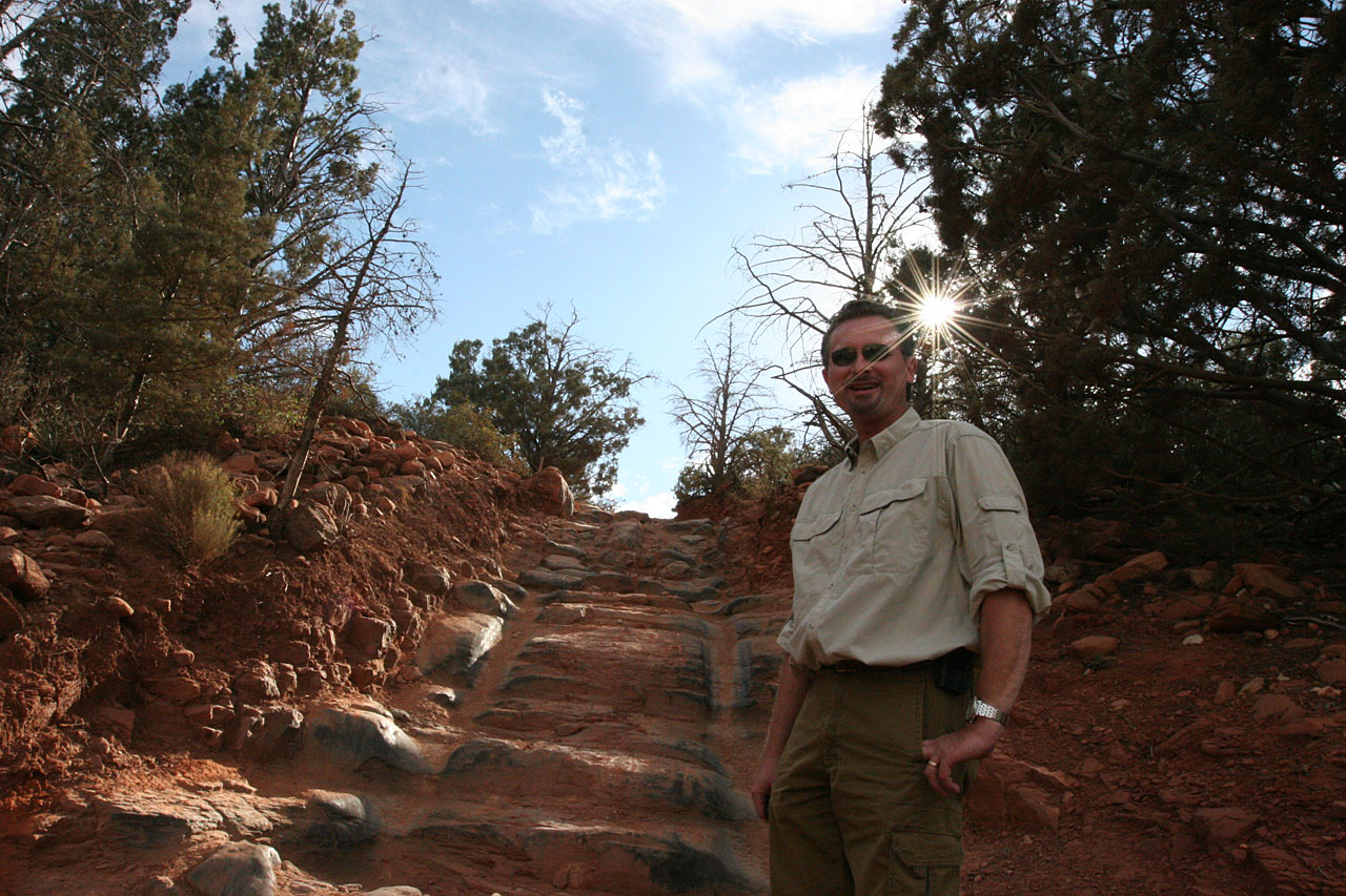 Umberto is excited to try the Stairs on the Broken Arrow trail.