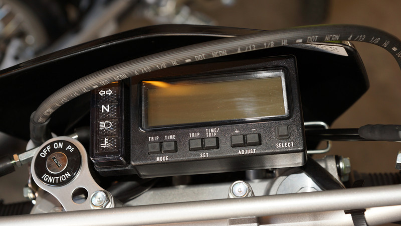 Speedo and a few other functions like trip meters.