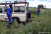 Even the landrover couldn't make it to Lobatse cave 2
