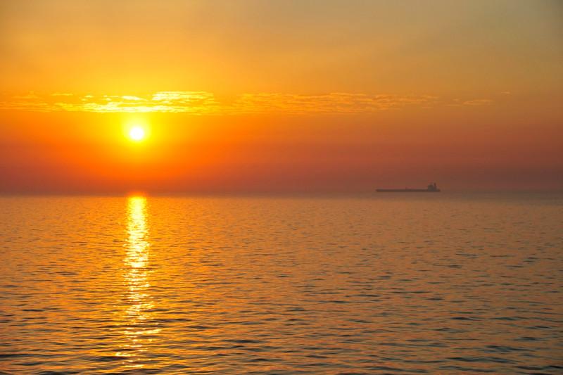 North Sea - voyage to Esbjerg, Denmark.