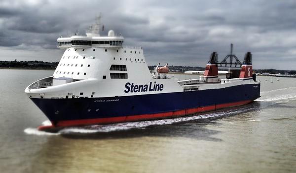 Stena Carrier leaving Harwich Docks, Suffolk.