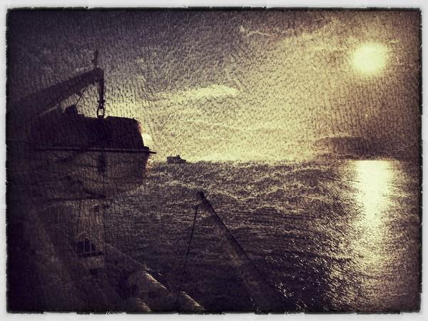 """On board """"Dana Sirena"""", North Sea."""