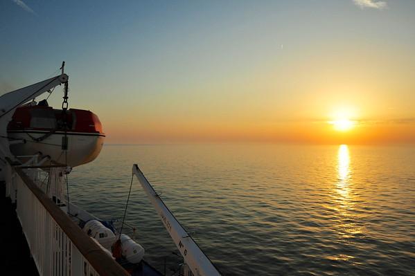"On board ""Dana Sirena"" from Harwich to Esbjerg, Demark."