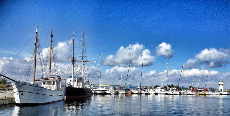 Granna harbour, Lake Vattern, Sweden.