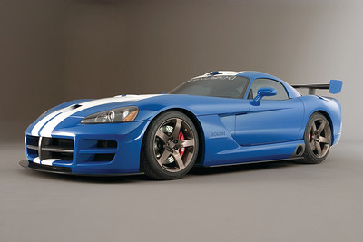 Blue Dodge Viper Show Car