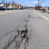 This pothole is on Summer Street in Lunenburg. SENTINEL & ENTERPRISE/JOHN LOVE