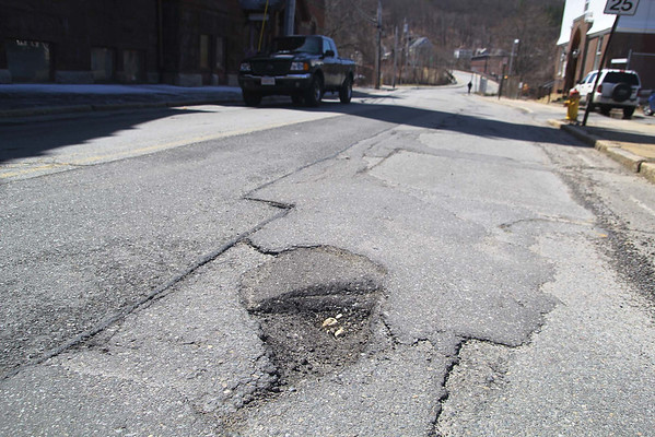 Potholes in the region