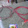 Original battery cable on the left, new replacement on the right.