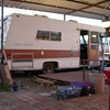 The deck is at the perfect height and the RV fits very nicely in our yard.