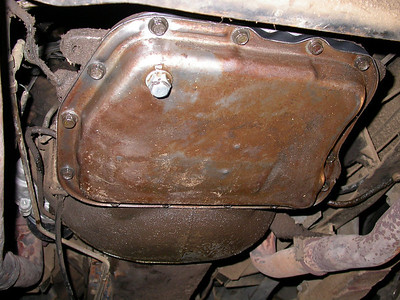 Transmission pan when I was done.