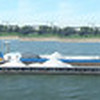 Experimental pano - long ship on the Rhine river