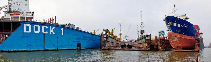 Drydock at Hamburg harbour