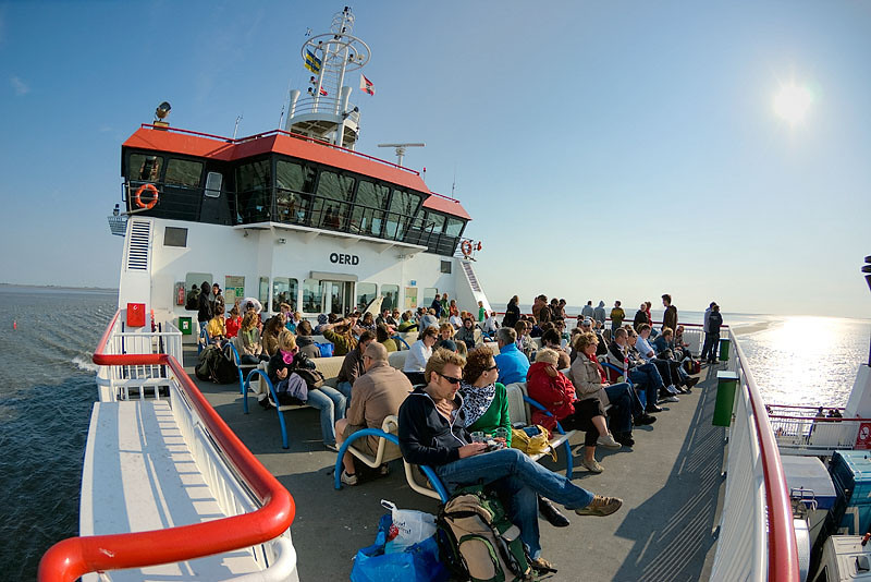 On the ferry to Ameland (HDR image)