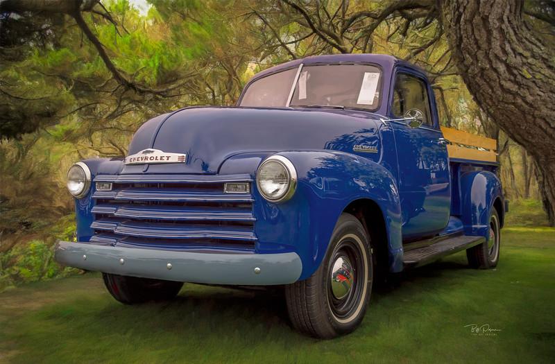 Blue Chevy Pickup