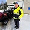 """Townsend Fire Chief Donald Klein shows the UTV (Utility Terrain Vehicle) the department has been using on loan from Kawasaki, Friday. Klein is hoping the department is able to purchase the vehicle and says """"these units are very beneficial to us out here.""""<br /> SENTINEL & ENTERPRISE / BRETT CRAWFORD"""
