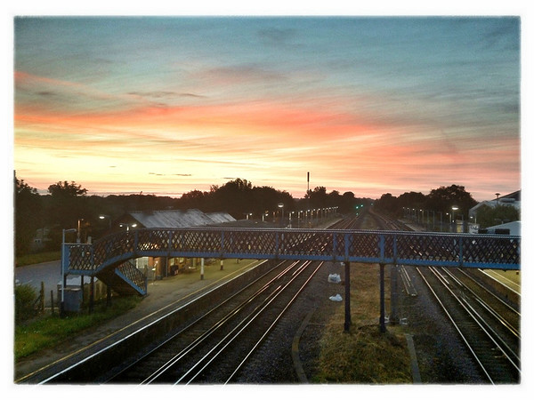 Sunrise over Hook, Hampshire.
