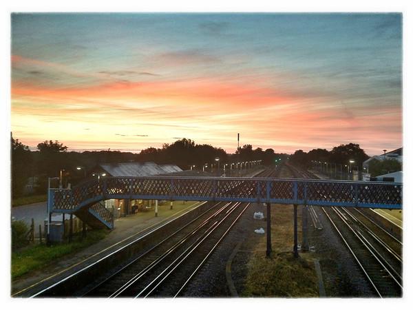 Sunrise over Hook, Hampshire.