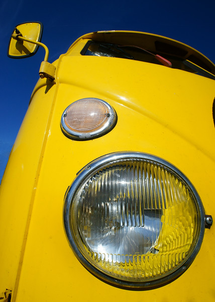 Yellow car - Volkswagen van