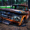Burned out Dodge truck 3 months after the Black Forest Fire.