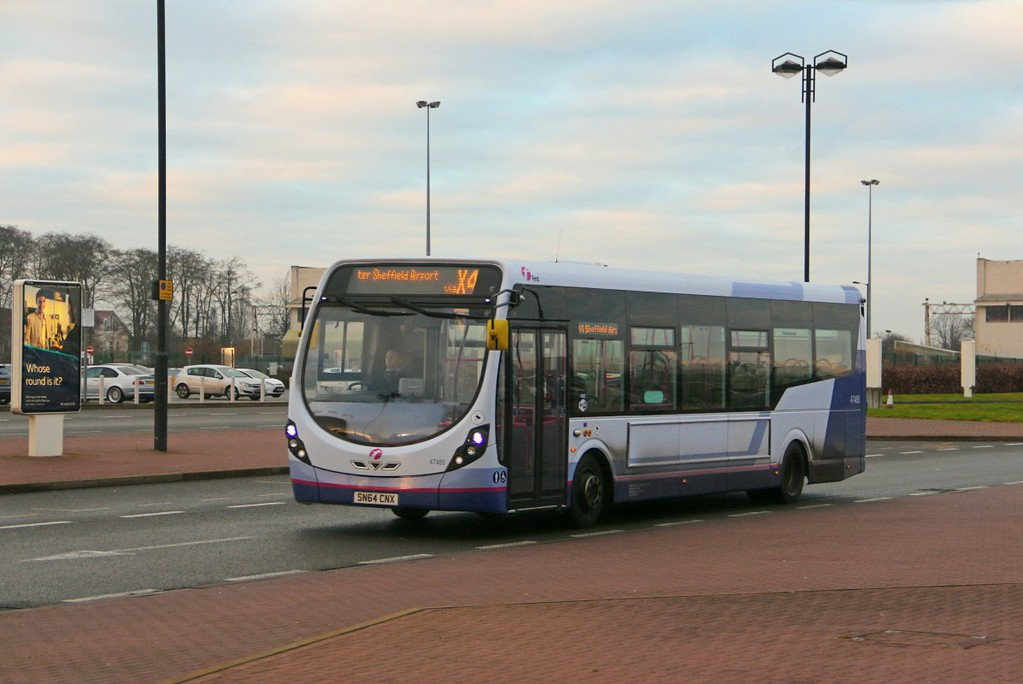 Wrightbus StreetLite SN64 CNX on the X4 service.........8th January 2017.<br /> By Clive Featherstone.