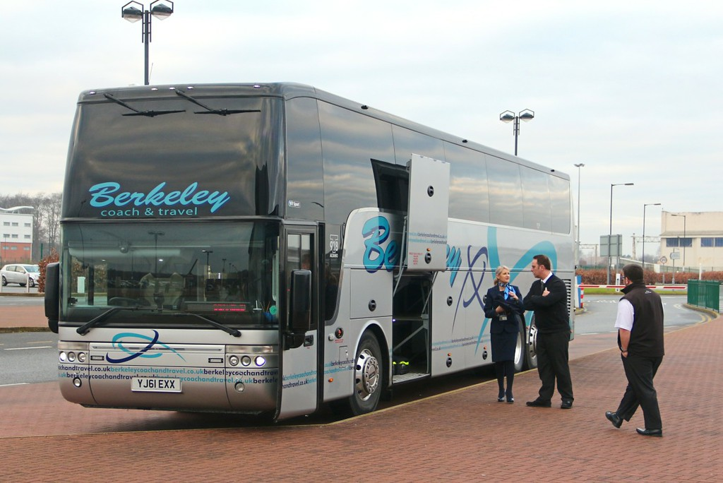 Berkeley Coach Travel Van Hool T917 Altano YJ61 EXX.......8th January 2017.<br /> By Clive Featherstone.