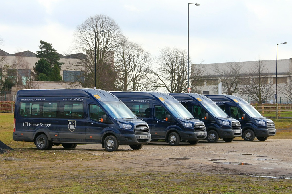 Hill House School Minibuses.........5th March 2018<br /> By Clive Featherstone.