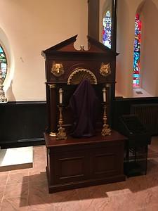 Shrine of St Francis veiled