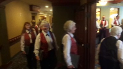 Click on Image for video ... Choir makes grand entrance!