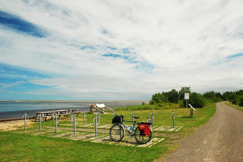 Piste cyclable, parc national de Kouchibouguac