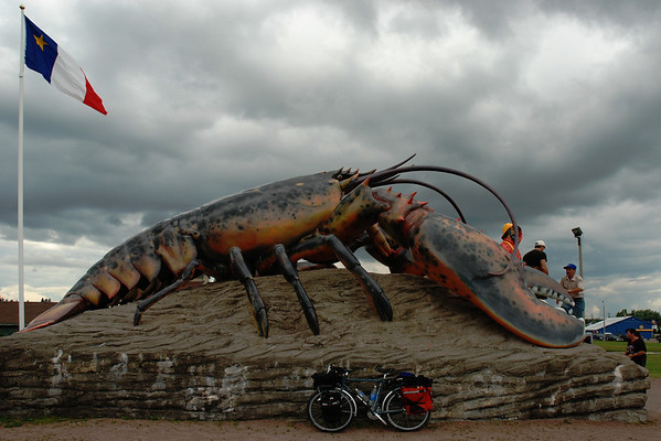 Giant lobster in Shediac