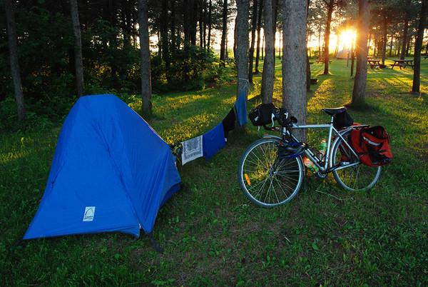 Camping Plages-des-Sables, Route Verte #1