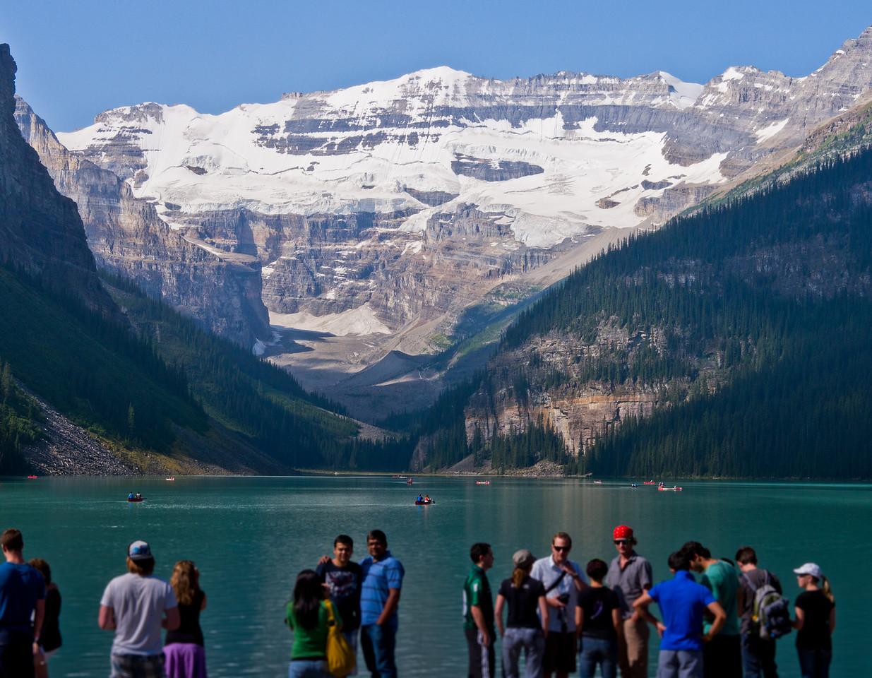 Touristes & lac Louise