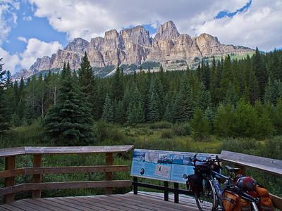 Mon vélo & Castle Mountain