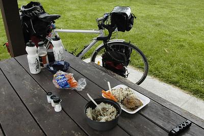 Steak et riz aux champignons - Halte routière de Champlain
