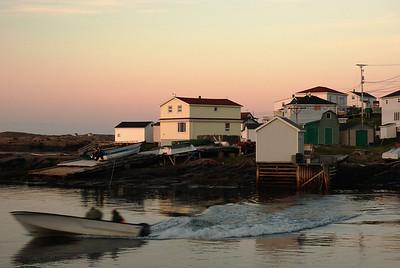Harrington Harbour à l'aube