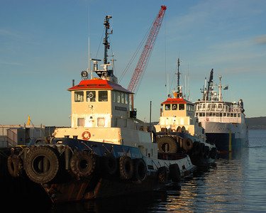 Remorqueurs et Nordik Express au quai de Sept-Îles