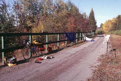 Séance de séchage au soleil - Piste cyclable Jacques-Cartier / Portneuf