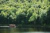 Bateau-maison sur la rivière St-Maurice, Mauricie