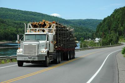 Camion de bois sur la route 155, Mauricie