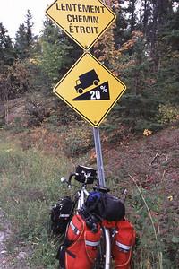 Descente à 20% vers le cap Jaseux, Saguenay