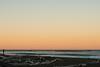 Camper at sunrise at Cribbs campsite