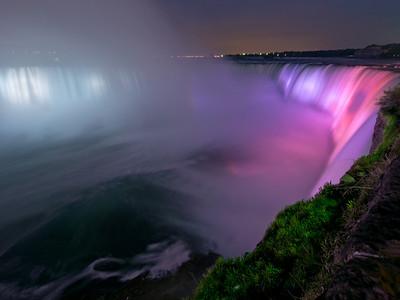 Chutes Niagara, la nuit