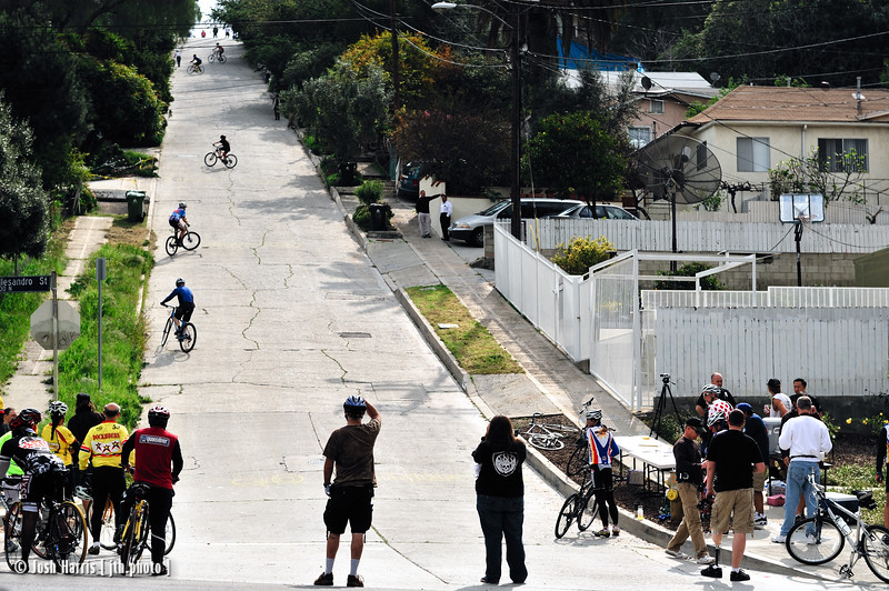 Fargo Street hill climb, Silver Lake, March 2009.