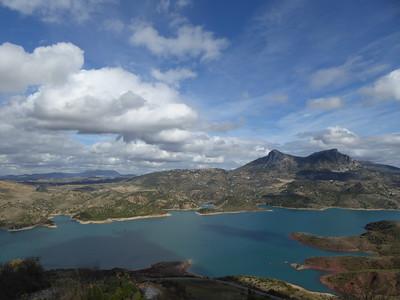 Aussicht von Zahara Richtung El Gastor, Sierra de Grazalema
