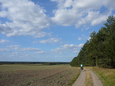 Radweg bei Berkau