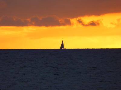 Sonnenuntergang in Höganäs