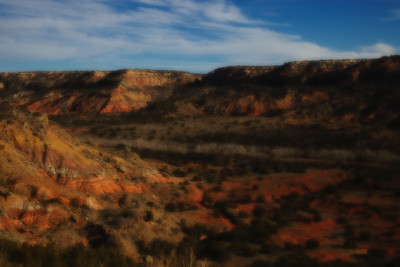 West Texas slide background, Palo Duro Canyon