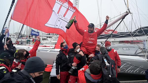 Vendée Globe finish for Boris Herrmann and Seaexplorer / Yacht Club de Monaco - Video